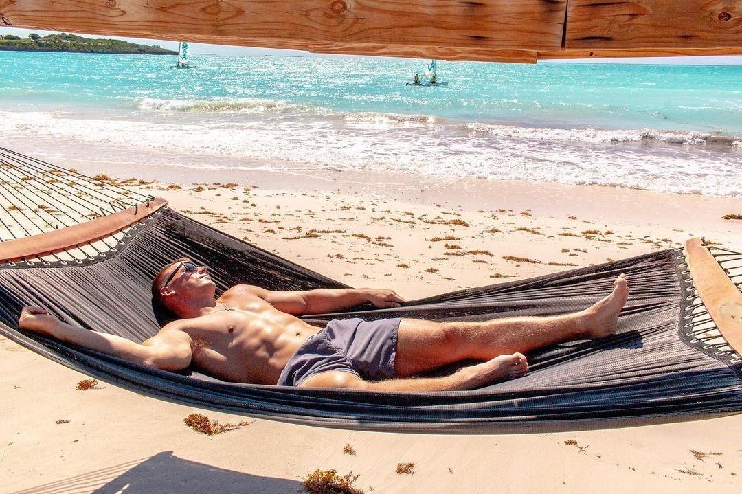 hot-guys-hairy-armpit-trevor-lee-beach-hunk-relaxing