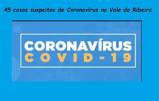 Sobe para 45 casos suspeitos de Coronavírus no Vale do Ribeira