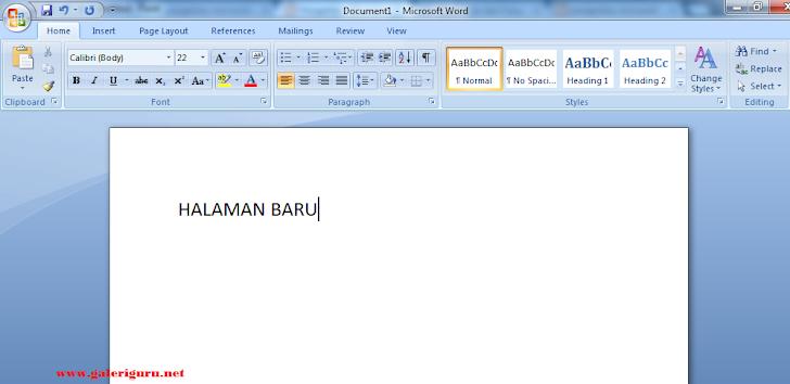 Cara Membuat Halaman Di Microsoft Word Untuk Siswa SD