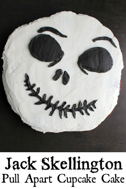 Turn the main character of The Nightmare Before Christmas, Jack Skellington, into a fun pull-apart cupcake cake. It's perfect for Halloween, birthdays or even a humorous Christmas dessert.