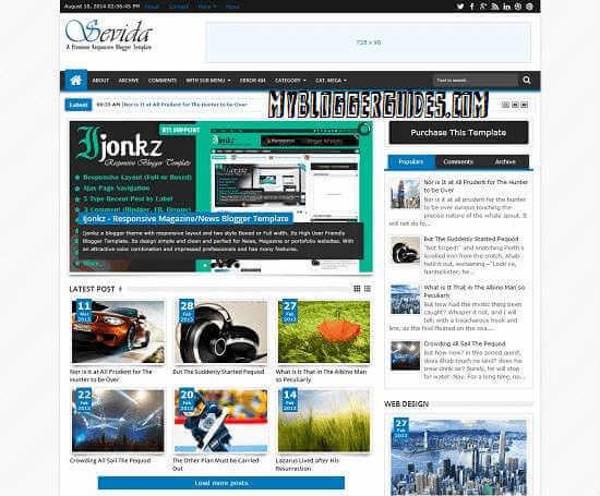 Sevida Blogger Template, AdSense Friendly Blogger Template, Best SEO Optimized Blogger Template