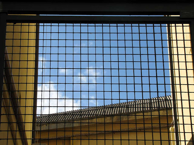 The sky seen through a gate,  via del Giglio, Livorno