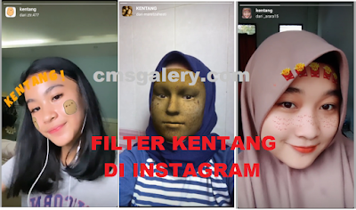 Filter kentang instagram, Begini cara mudah mendapatkannya