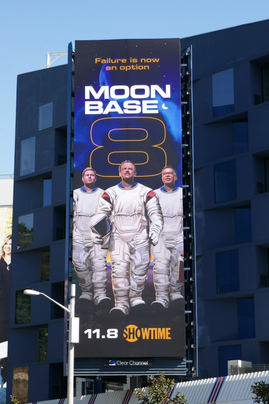 Moonbase 8 series launch billboard