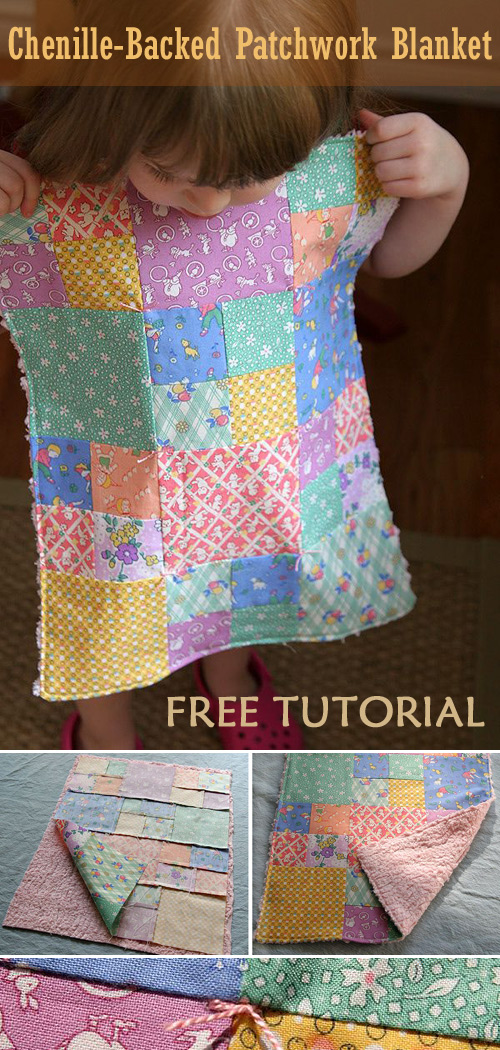 Simple Patchwork Quilt Blanket Sewing Tutorial