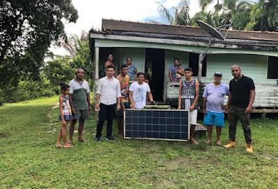 Energia solar e internet aos ribeirinhos portelenses