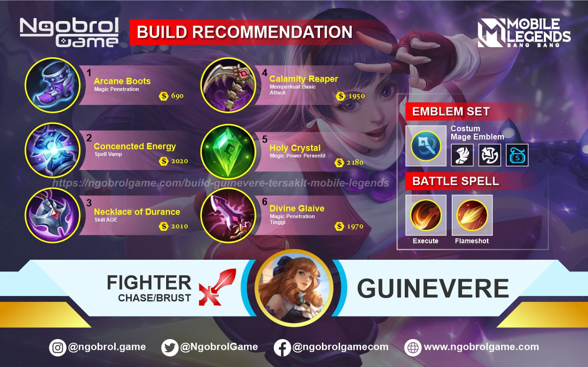 Build Guinevere Savage Mobile Legends