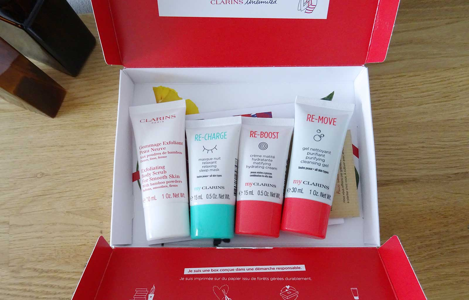 Clarins unlimited box à la carte