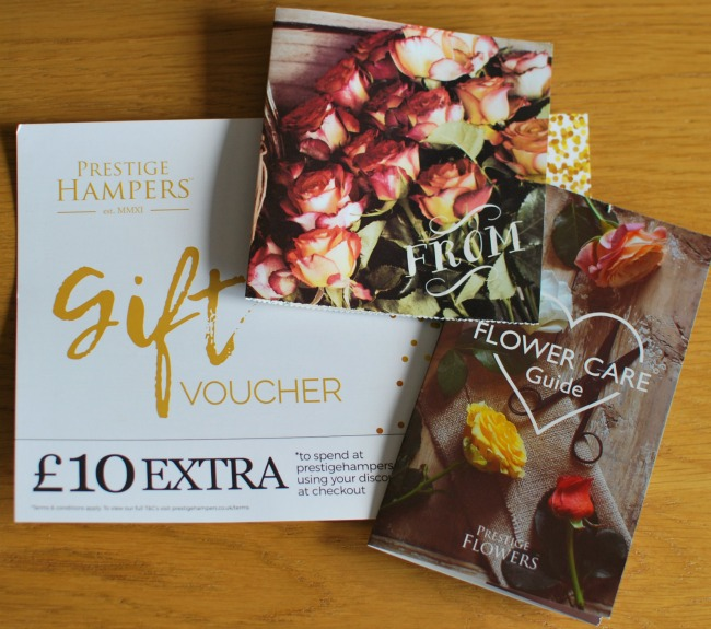 Prestige-hampers-discount-token-card-and-flower-care-tips