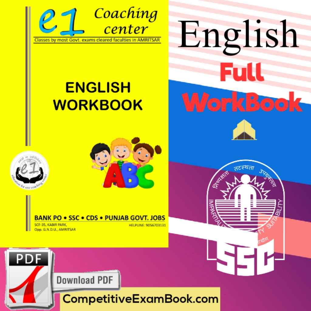 E1 Coaching Center English WorkBook For Competitive Exams