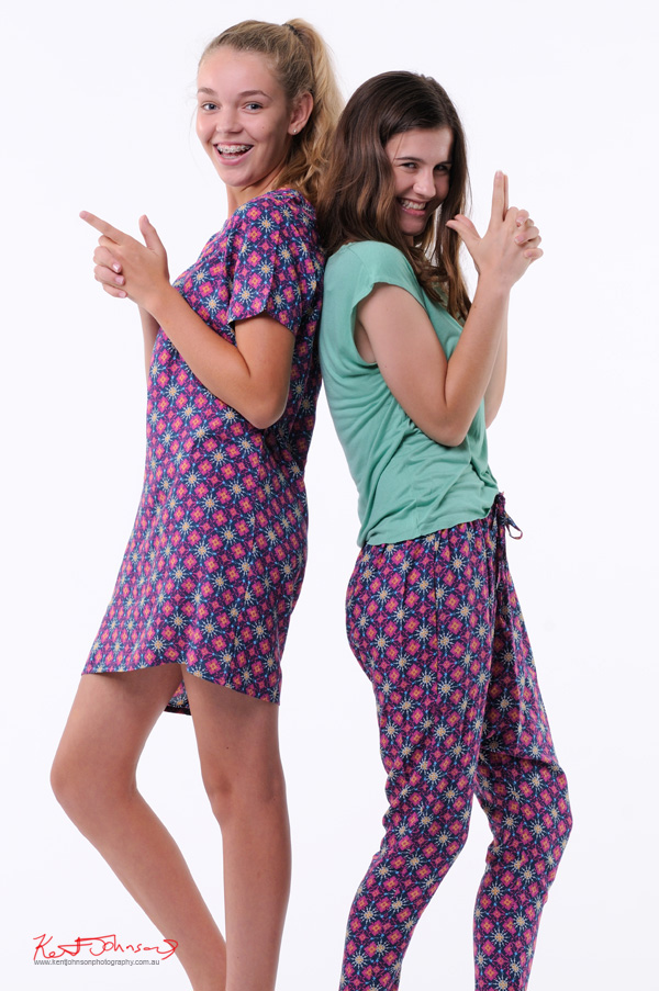Teen Fashion in the studio with two models - Look-book & Branding Photography