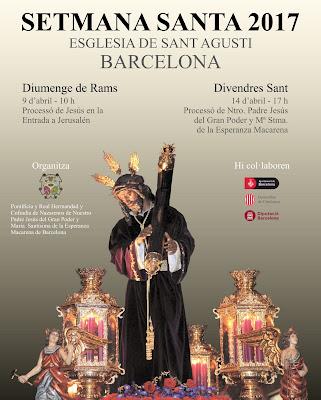 Cartel Gran Poder y Macarena de Barcelona