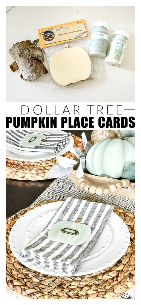 How to make easy pumpkin place cards