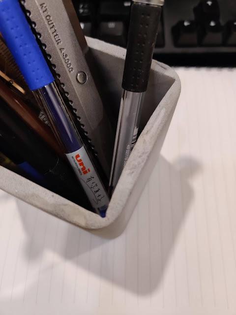 DIY水泥筆筒