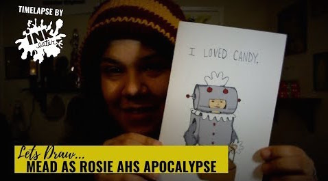 Drawing American Horror Story Apocalypse - Mead as Rosie the Robot