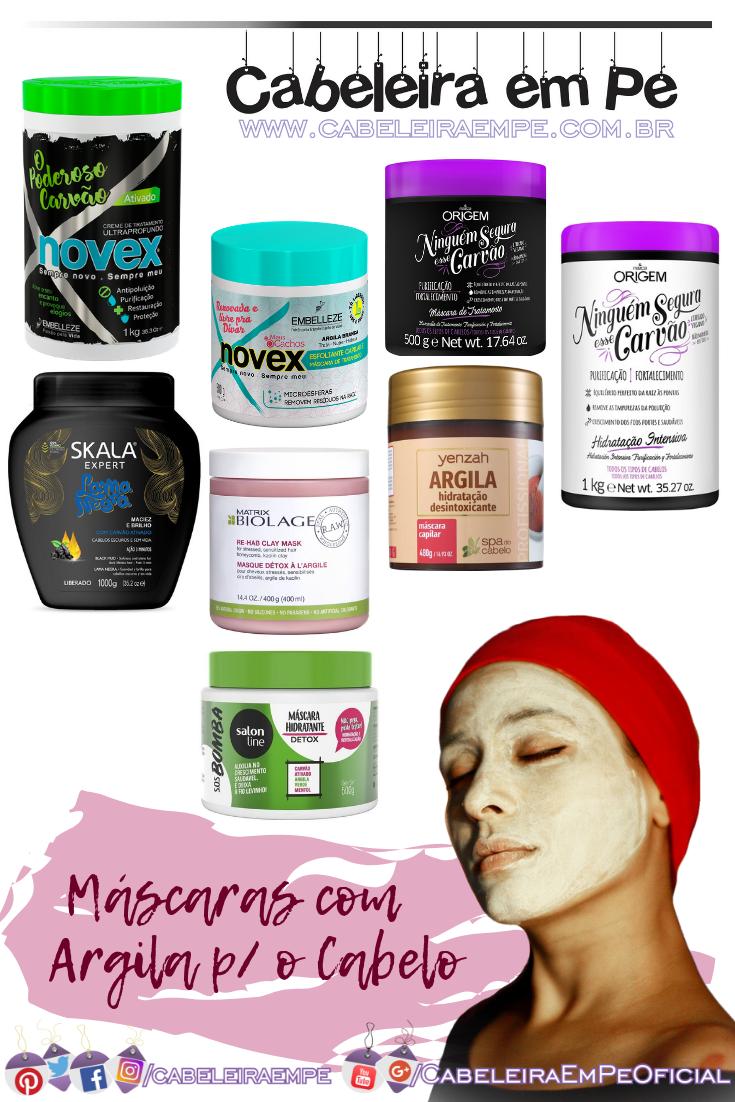 Máscaras com Argila No Poo ou Low Poo para os Cabelos (Novex, Nazca, Skala, Biolage, Yenzah, Salon Line)