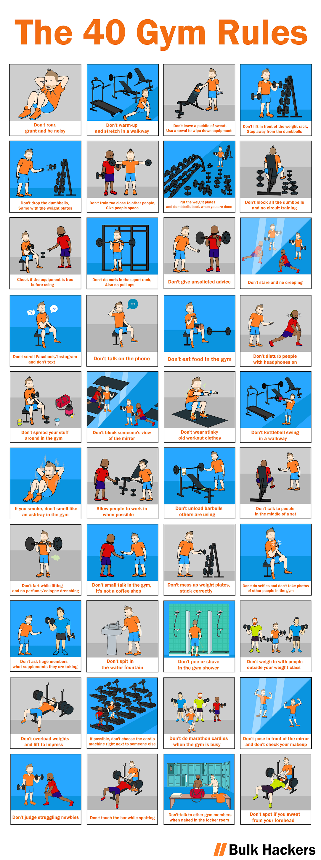 The 40 Gym Rules