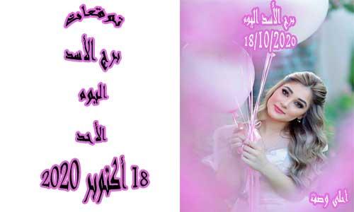 توقعات برج الأسد اليوم 18/10/2020 الأحد 18 أكتوبر / تشرين الأول 2020 ، Leo