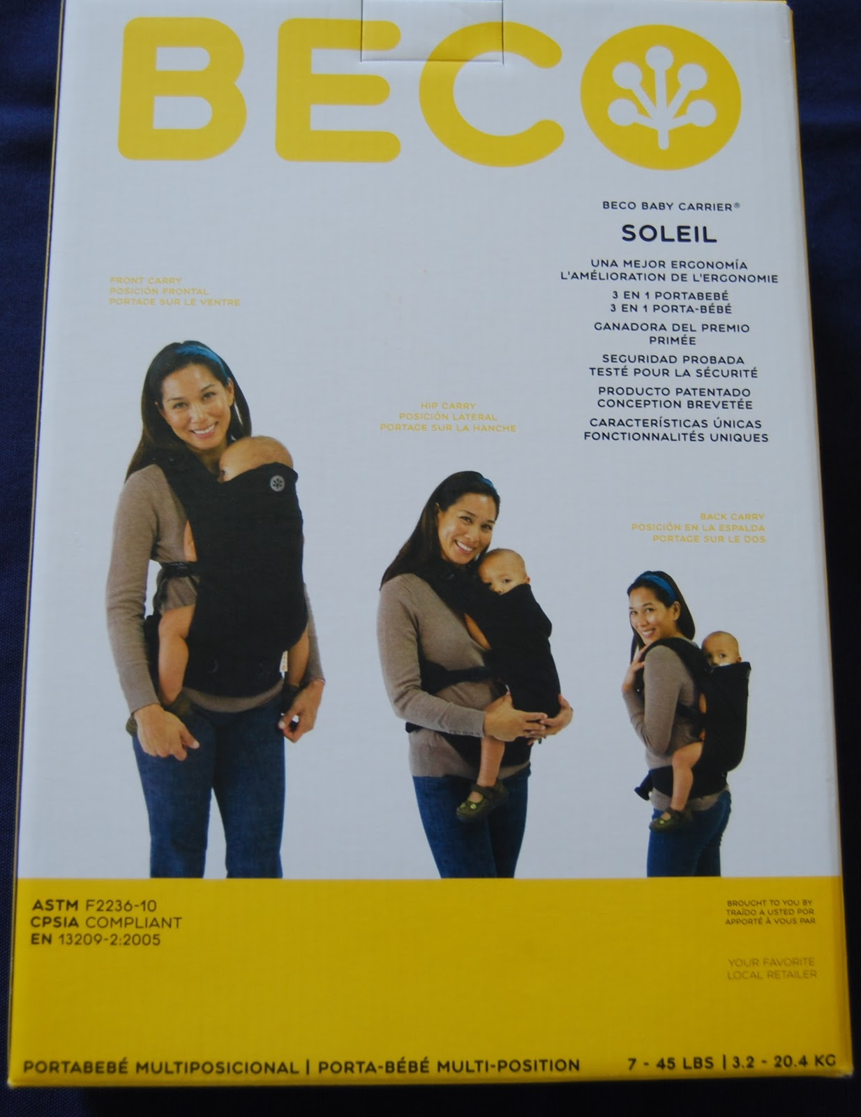 7a4c092fde9 I received a Beco Soleil in Stella Black and infant insert for my review.  This is what I received