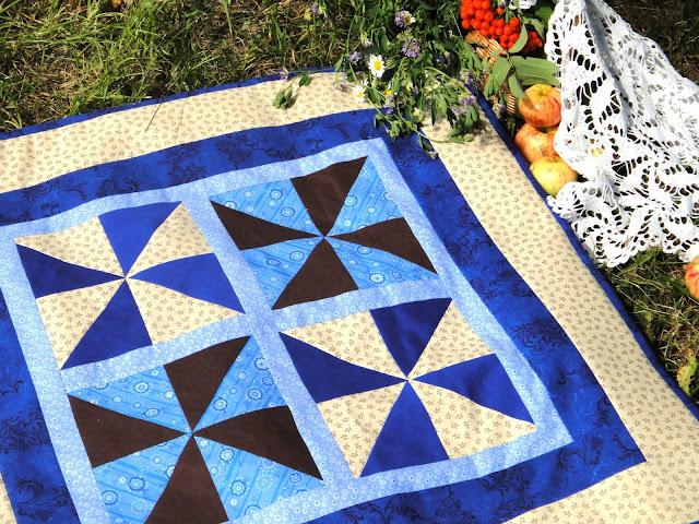 Лоскутное одеяло с мотивом Мельница