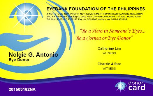 e-pledge form for corneal donor