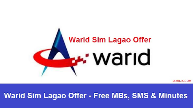 Warid Sim Lagao Offer Free MBs, SMS & Minutes