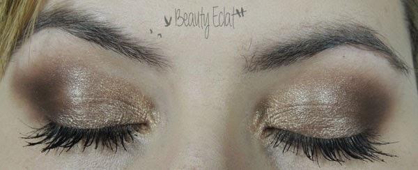 tutoriel maquillage leger smoky marron doré