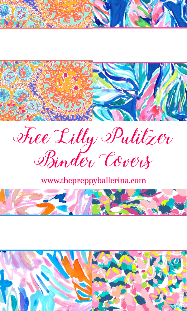 Playful image within free printable binder covers lilly pulitzer