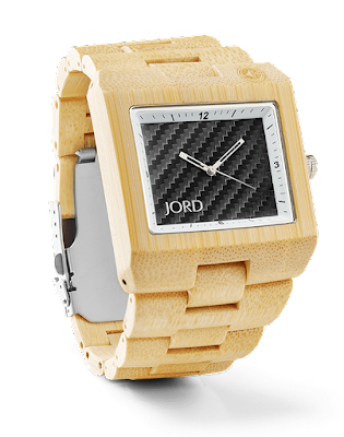Delmar Bamboo and Black carbon Jord wooden watch