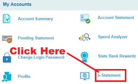 how to get monthly statement from sbi bank