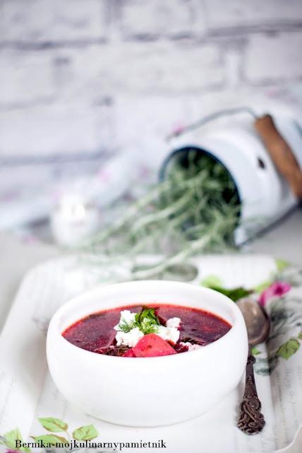 botwinka, zupa, obiad, dietetycznie, tarczyca, hashimoto, bez gluteniu, buraki