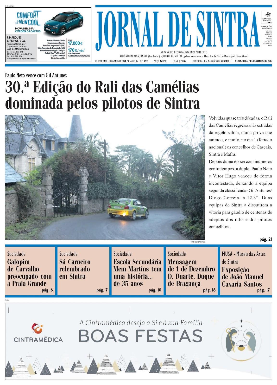 Capa da edição de 07-12-2018