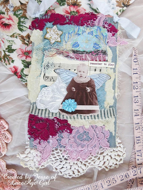 fabric collage by Jesse of Lace Age Girl