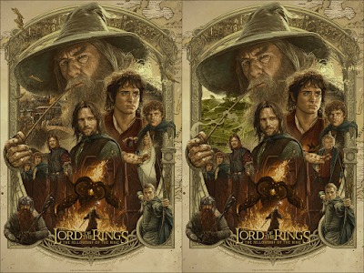 The Lord of the Rings: The Fellowship of the Ring 20th Anniversary Print by Ruiz Burgos x Grey Matter Art