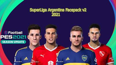 PES 2021 Facepack Superliga Argentina V2 by Hector