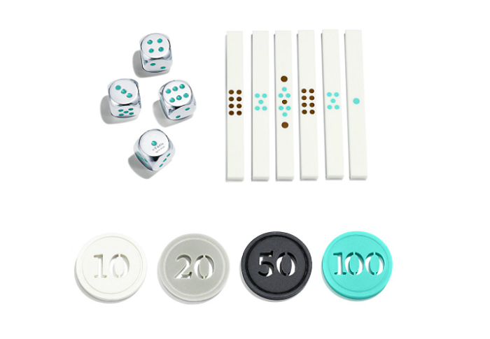 Tiffany & Co Mahjong Set Sterling Silver Dices