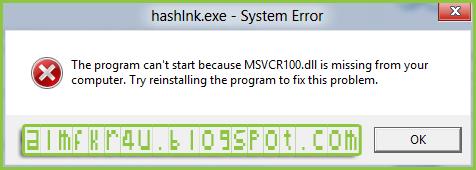 حل مشاكل ملفات dll الناقصة و رسائل خطأ النظام بشكل كامل وتفصيلي | How to Fix msvcp100.dll Not Found or Missing Errors