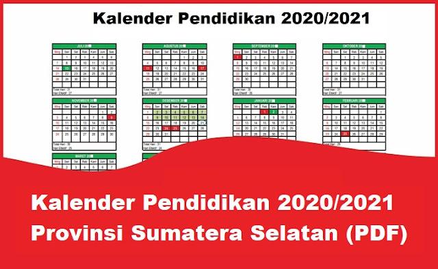 Kalender Pendidikan 2020/2021 Sumatera Selatan
