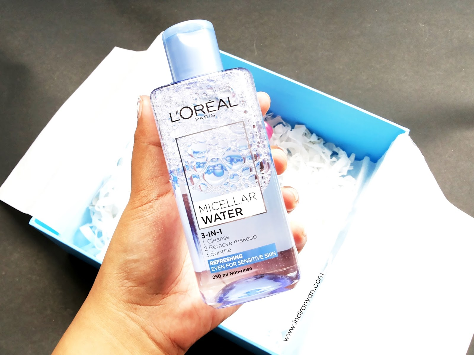 loreal-micellar-water-review, loreal-micellar-water-botol-biru, loreal-micellar-water-refreshing