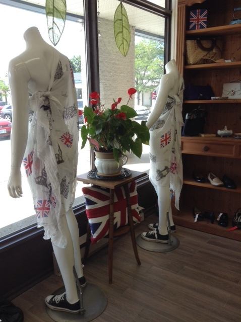 cheeky window display at The Frock Exchange in Kanata