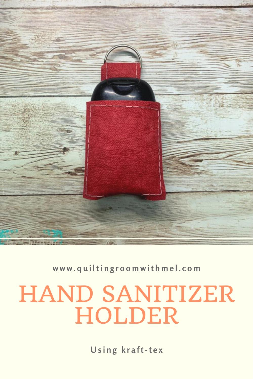 Pinterest kraft tex hand sanitizer holder pattern and tutorial