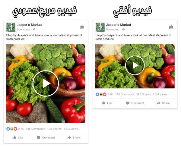 فيسبوك اعلانات الفيديو