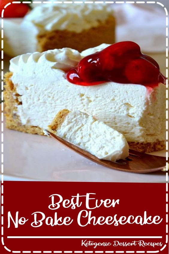 it tastes like authentic New York cheesecake but in a dreamy no Best Ever No-Bake Cheesecake