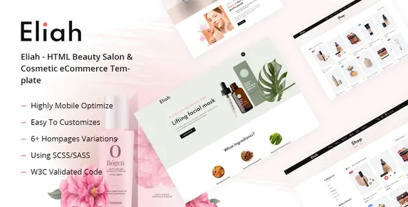 Best Beauty Salon & Cosmetic eCommerce Template