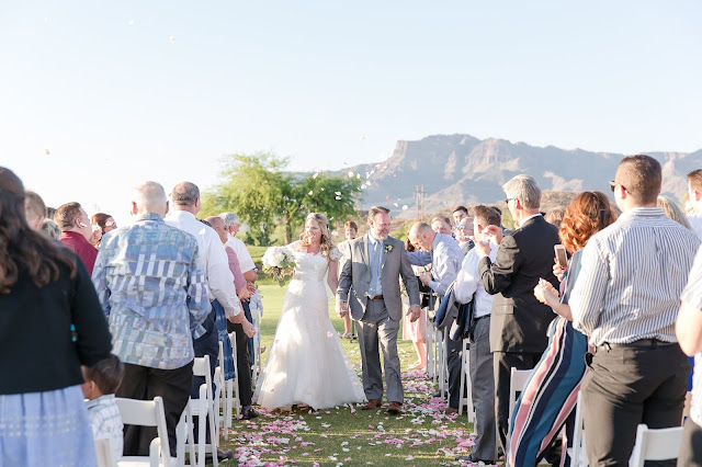 Ceremony at The Views at Superstition Wedding Venue