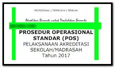 Buku Prosedur POS S/M Akreditasi Sekolah 2018