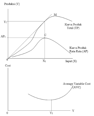 Kurva Biaya Variabel Rata-rata (Average Variable Cost)