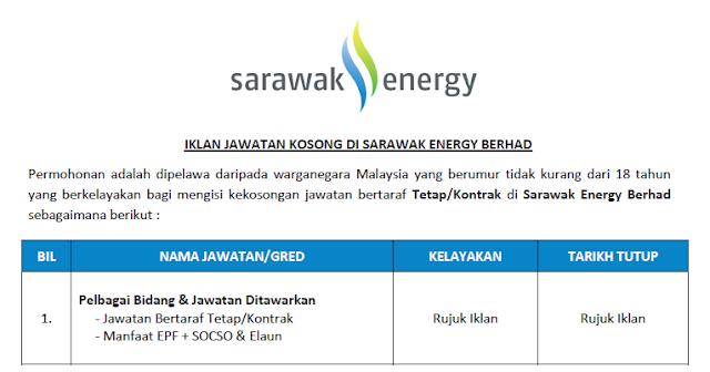 sarawak energy career