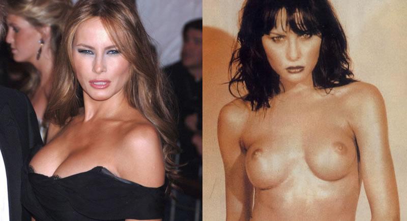 Nudes de Melanie Trump, a nova primeira dama dos EUA
