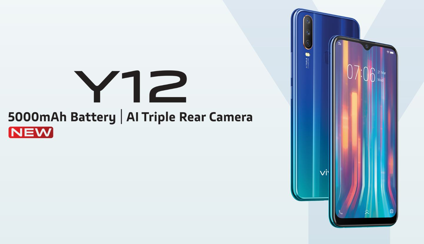 Harga dan Spesifikasi Vivo Y12 RAM 3GB ROM 64GB Terbaru di Indonesia